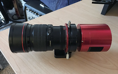 LensSlider with Canon EF 100mm f/2.8 Lens and ZWO ASI1600mm-cool attached