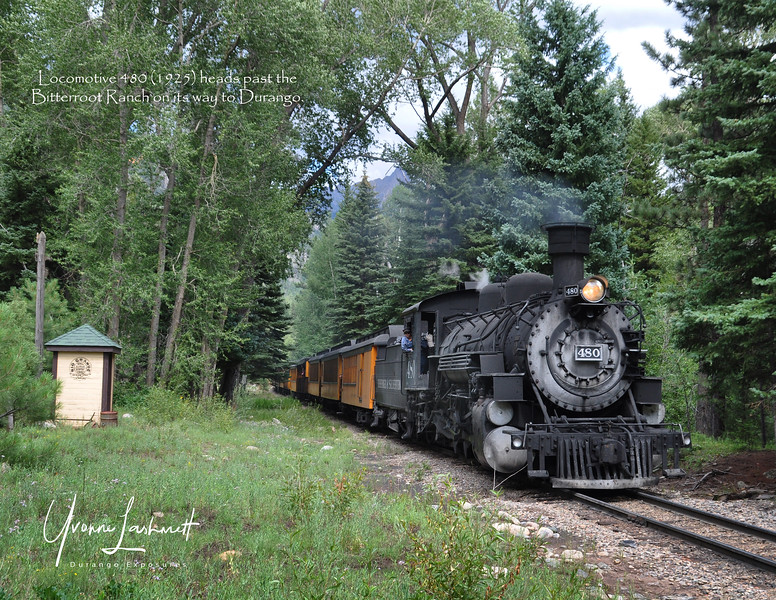 480 pulls train to Durango past the Bitterroot