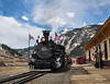 First train of the season is greeted by period-dressed well-wishers at the Silverton Depot. This is always a day for celebration!