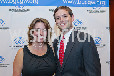 Tiffany Carter, Luke Russert. Photo by Alfredo Flores. 26th Annual Tim Russert Congressional Awards Dinner. J.W. Marriott Hotel. May 25, 2011