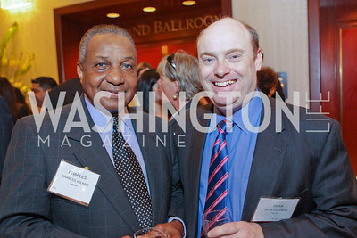 Charles WIlkins, Sean Hoffman. Photo by Alfredo Flores. 26th Annual Tim Russert Congressional Awards Dinner. J.W. Marriott Hotel. May 25, 2011
