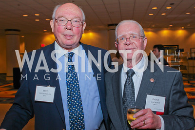 Bert Edwards, Chuck Weir. Photo by Alfredo Flores. 26th Annual Tim Russert Congressional Awards Dinner. J.W. Marriott Hotel. May 25, 2011