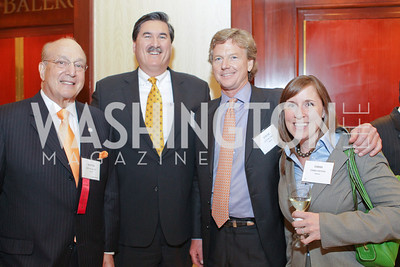 Martin K. Alloy, Thomas James, Steve Orr, Emma Kieran. Photo by Alfredo Flores. 26th Annual Tim Russert Congressional Awards Dinner. J.W. Marriott Hotel. May 25, 2011