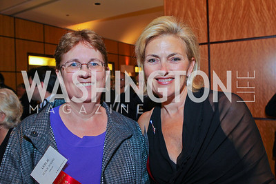 Leslie Atkins, Debrajean Overholt. Photo by Alfredo Flores. 26th Annual Tim Russert Congressional Awards Dinner. J.W. Marriott Hotel. May 25, 2011