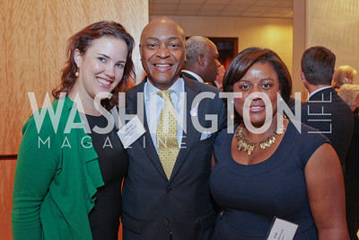 Elaine Maslamani, Edmund Green, Kimberly Morgan. Photo by Alfredo Flores. 26th Annual Tim Russert Congressional Awards Dinner. J.W. Marriott Hotel. May 25, 2011