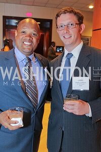 Wayne Johnson, Daniel Connor. Photo by Alfredo Flores. 26th Annual Tim Russert Congressional Awards Dinner. J.W. Marriott Hotel. May 25, 2011