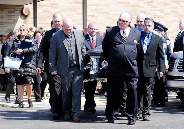 Don Knight | The Herald Bulletin<br /> Funeral for Kyle Hibst and David Wittkamper in Elwood on Wednesday.