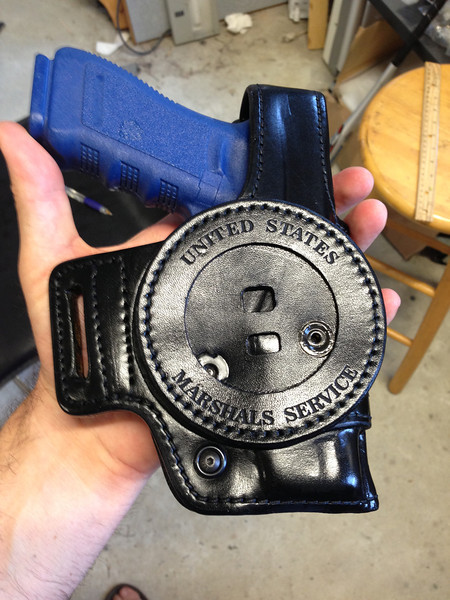 Black Holster engraving with out embossing