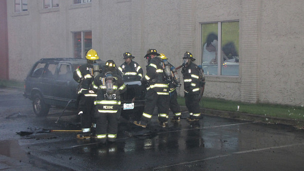8/2/12 Car Fire Subway Boston Post Rd