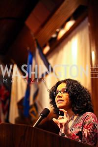 Presenter Mona Eltahawy. 8th Annual Ridenhour Prizes. Photo by Tony Powell. Press Club. April 13, 2011