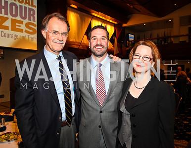 Bill Goodefellow, Matthew Hoh, Darcy Burner. 8th Annual Ridenhour Prizes. Photo by Tony Powell. Press Club. April 13, 2011