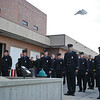 Ashleigh Fox | The Sheridan Press<br> Firefighters watch as doves are released during the 9/11 ceremony at Sheridan Fire-Rescue Department Tuesday, Sept. 11, 2018.