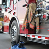 Ashleigh Fox | The Sheridan Press<br> A firefighter's gear awaits action ahead of the 9/11 ceremony at Sheridan Fire-Rescue Department Tuesday, Sept. 11, 2018.