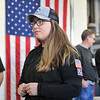Ashleigh Fox | The Sheridan Press<br> Carlene Landrey, who works for Rocky Mountain Ambulance, chats with other first responders following the 9/11 ceremony at Sheridan Fire-Rescue Department Tuesday, Sept. 11, 2018.