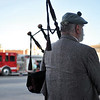 Ashleigh Fox | The Sheridan Press<br> Bagpiper Bob Wyatt finishes a rendition of Amazing Grace during the 9/11 ceremony at Sheridan Fire-Rescue Department Tuesday, Sept. 11, 2018.