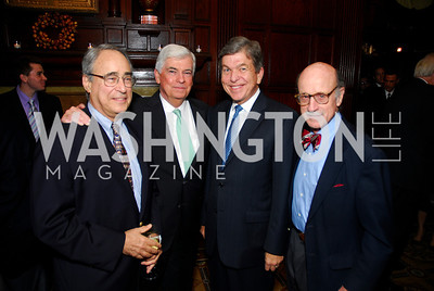 Carl Leubsdorf, Chris Dodd, Roy Blunt, Findlay Lewis, A Book Party for Chris Matthews, November 2, 2011, Kyle Samperton