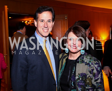 The Honorable Rick Santorum, Marlene Malek. A Celebration honoring the Republican Freshmen of the 112th Congress. Photo by Tony Powell. Four Seasons Hotel. February 15, 2011