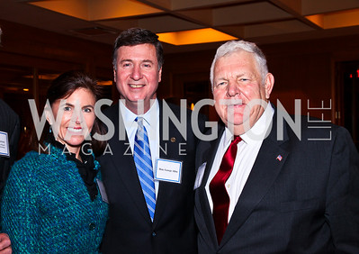Susan and George Allen, Host Bill Bennett. A Celebration honoring the Republican Freshmen of the 112th Congress. Photo by Tony Powell. Four Seasons Hotel. February 15, 2011