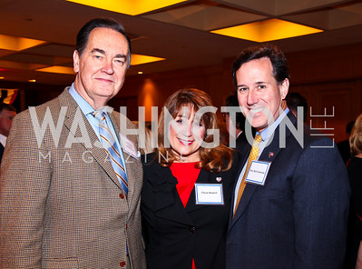 Cal Thomas, Elayne Bennett, The Honorable Rick Santorum. A Celebration honoring the Republican Freshmen of the 112th Congress. Photo by Tony Powell. Four Seasons Hotel. February 15, 2011