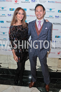 Erika Paola Gutierrez, Howard Lee. A Night to Benefit the Fight Against Child Trafficking‏. Mayflower Hotel. October 19, 2011. Photo by Alfredo Flores