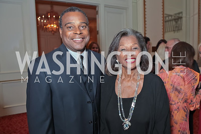 Keith Lashley, Former First Lady of Barbados Lady Stella St. John. A Night to Benefit the Fight Against Child Trafficking. Mayflower Hotel. October 19, 2011. Photo by Alfredo Flores