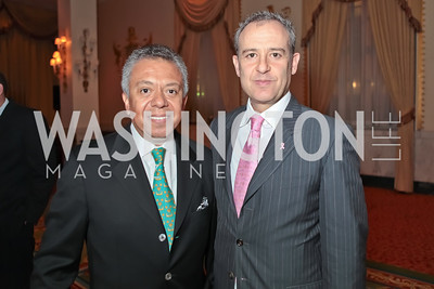 Angel Santos, Ambassador of Mexico Arturo Sarukhan Casamitjana. A Night to Benefit the Fight Against Child Trafficking‏. Mayflower Hotel. October 19, 2011. Photo by Alfredo Flores