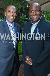 Curtis Etherly, Kevin Hinton. Photo by Alfredo Flores. A Standing Ovation for DC Teachers Kick-Off Reception. Home of Mrs. & Mr. Elizabeth and George Stevens, Jr. June 2, 2011