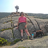 At the summit of Parkman Mountain.