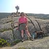 At the summit of Parkman Mountain.