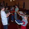 There are a few times a year that the acolytes will be called to hold the Bible steady.  We have some great acolytes!
