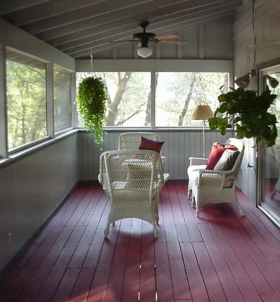 Screen porch addition