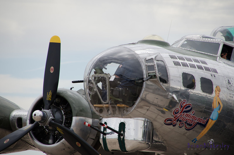 "Cockpit of the B-17 known as ""Sentimental Journey"", based at Falcon Field, Mesa, AZ"