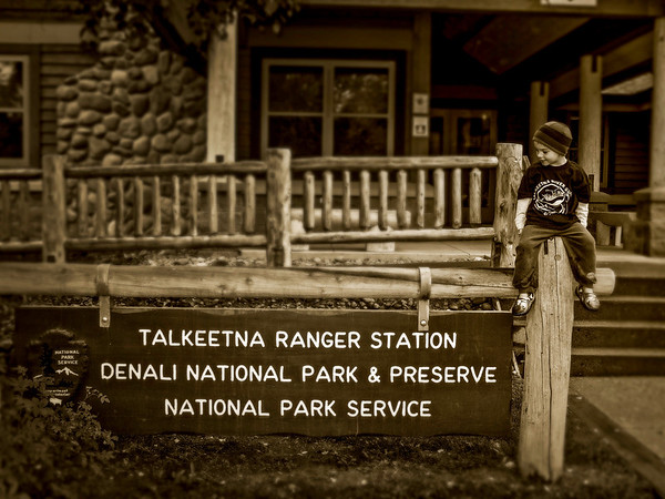 5yo Ty visiting the Ranger station 2009