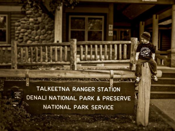 5yo Ty visiting the Ranger station 2009
