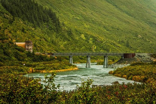 Railroad bridge Alaska 2009