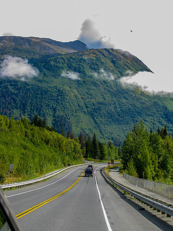 Anchorage Alaska 2009: highway south out of Anchorage