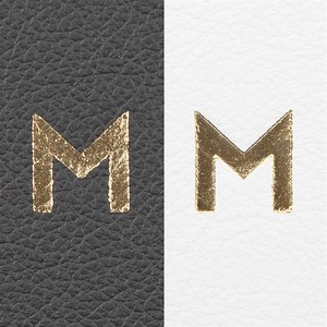 Foil Debossing is not available on distressed leathers. Available in seven different metallic colors