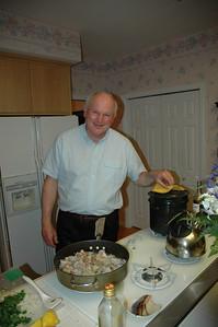 Bill White in the kitchen