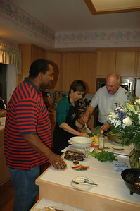 Rudy Ford, Diane Hunt, and Bill White plate entrees