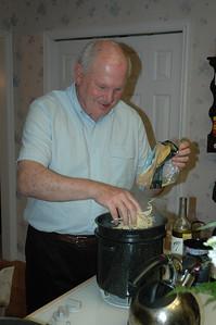 Bill White cooks pasta