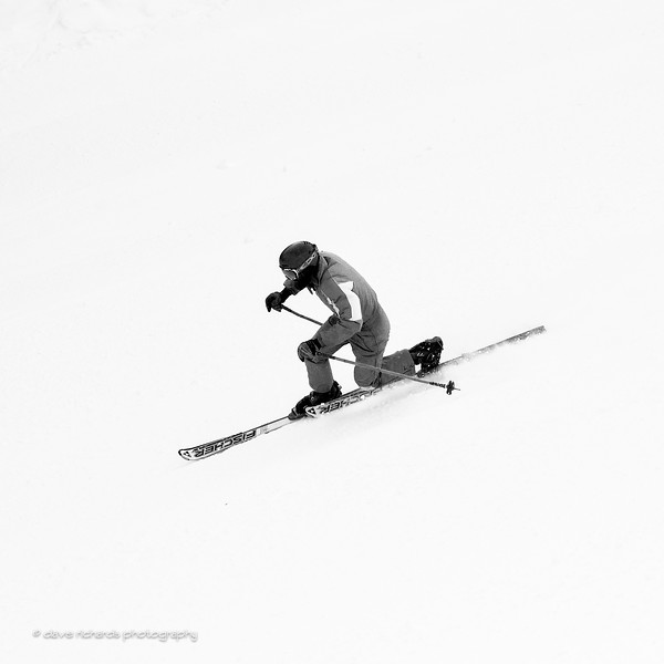 Black & White Telemark. 2017 Alta Town Race - GS#8 (Photo by Dave Richards, daverphoto.com)