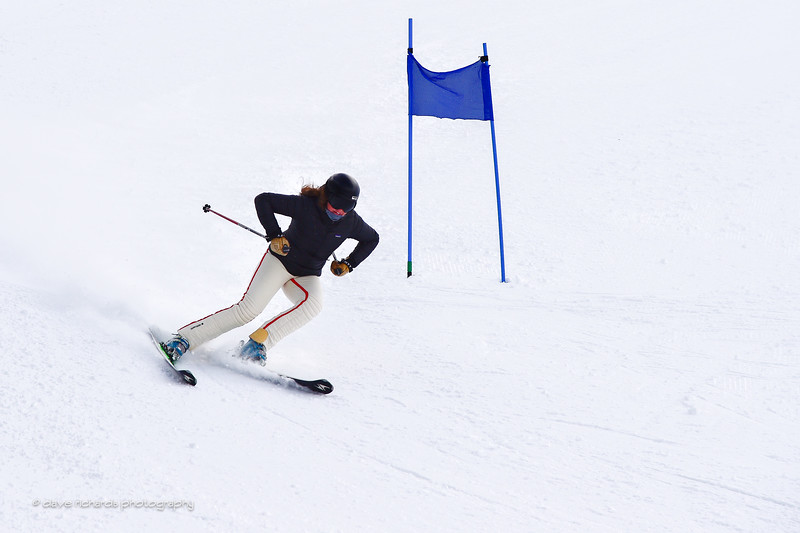 She's charging the course. 2017 Alta Town Race - GS#8 (Photo by Dave Richards, daverphoto.com)