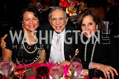 Gala Co-Chair Debra Lee, Ronald and Beth Dozoretz. Ailey Gala 2011. Photo by Tony Powell. Kennedy Center. February 1, 2011