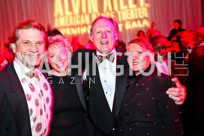 David Shurtz, Cathy Crane, Michael Simpson, Amerilla Donnel. Ailey Gala 2011. Photo by Tony Powell. Kennedy Center. February 1, 2011