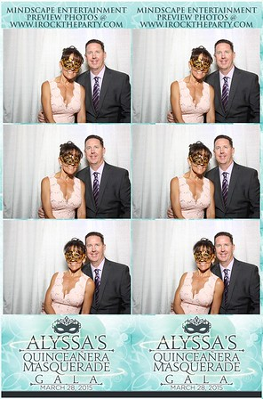 Alyssa T. Perez Quinceanera - Photo Booth Pictures