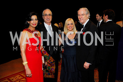 Moshira Soliman, Les Deak, Trish Vrandeburg, George Vradenburg, Alzheimers Gala 2011, April 6, 2011, Kyle Samperton
