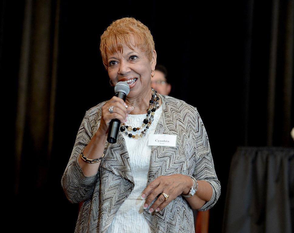 . Cynthia Terry receives the lifetime achievement award at the Press Telegram Amazing Women 2013 Gala in Lakewood, CA. on Wednesday, November 13, 2013. (Photo by Sean Hiller/Press Telegram).