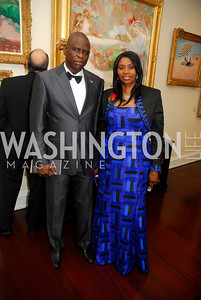 Ibrahim Diagne, Fatoo Dannielle DiagneT,he Ambassadors Ball,September 14,2011,Kyle Samperton