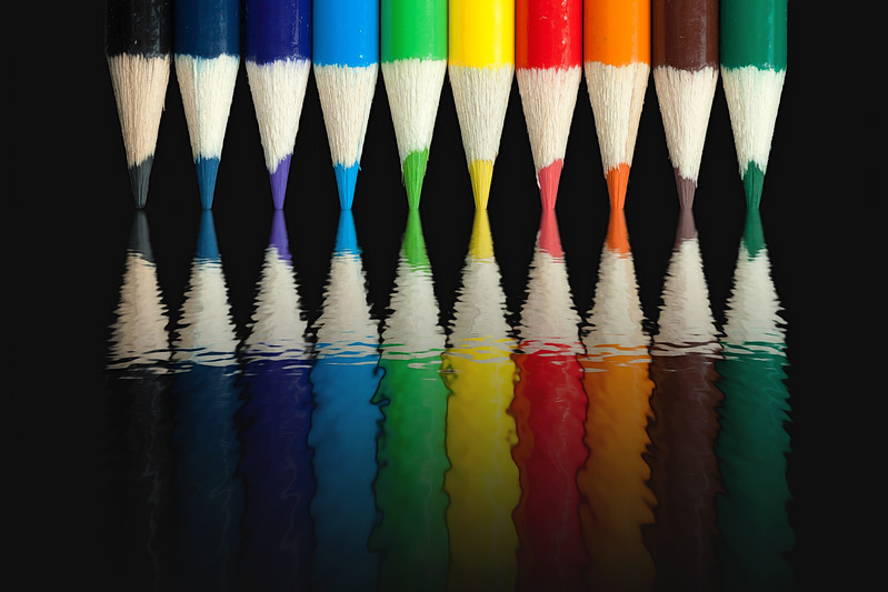 Colored Pencils Reflection
