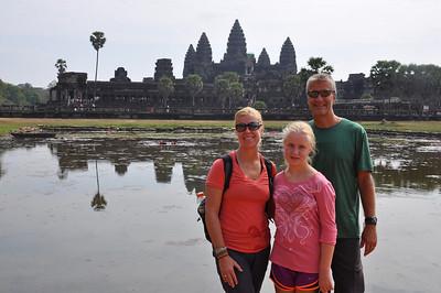 5 towers of Angkor Wat.